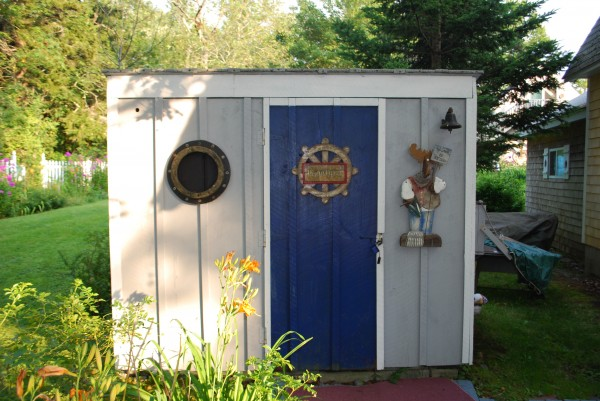 The &quotPoop Deck&quot is the most outstanding outhouse in all of Maine because it has all the amenities of a luxurious restroom but rests comfortably on the side of the lawn and overlooks the ocean. The decor has a natural and rustic beauty with cozy comforts like magazines, old books that have been passed down through the generations, lanterns, and curtains; for that additional assurance of privacy. The outside is painted to match the house and deck, and it exudes a certain charm that makes you feel right at home. Probably one of the greatest things that separates our outhouse from others is that it overlooks the beautiful east coast seaside. The &quotPoop Deck&quot is truly amazing!