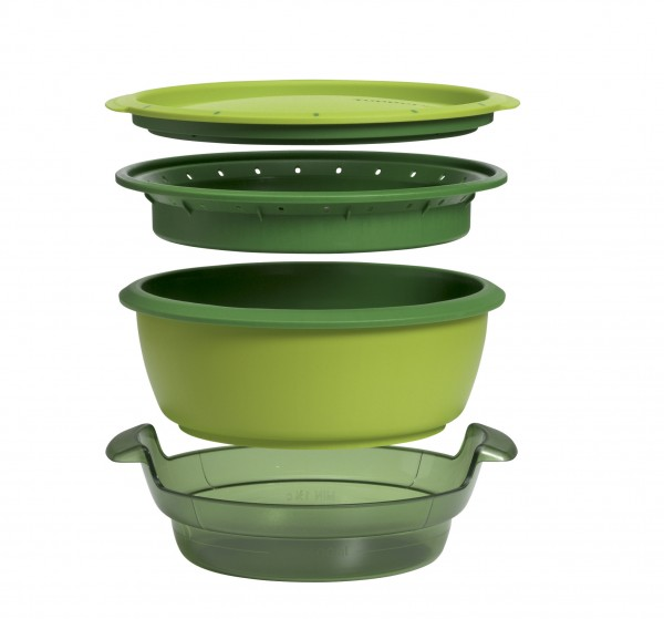 This product image courtesy of Tupperware shows the Tupperware SmartSteamer.