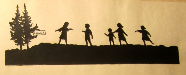 Silhouette cutout illustration by Rachel Field.