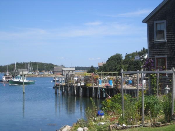 A harborside scene.