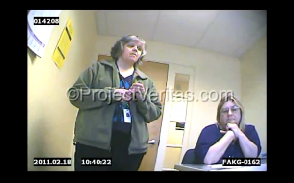 A screenshot from the video alleging Medicaid fraud.