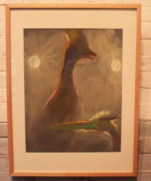 """For Display Only,"" a pastel drawing by Chris Augusta, is on display at the L.C. Bates Museum in Hinckley as part of the exhibit ""Drawing from the Collection,"" on display through Oct. 15, 2011."