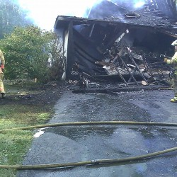 Vt. woman traveling to Maine alerts trucker before rig goes catches fire