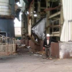 Six weeks after failed implosion, last of Loring heat plant comes down