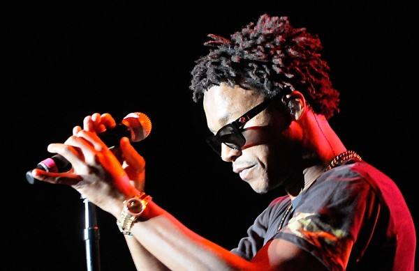 Rapper, artist, producer and music executive Lupe Fiasco performs at the KahBang Festival Friday night, Aug. 12, 2011.