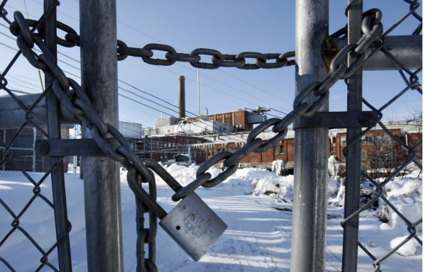 The Millinocket paper mill sits idle in March. Maine Gov. Paul LePage announced Tuesday that a buyer had come forward for the two Katahdin mills. Town leaders hope to settle a property tax deal with the potential buyer late next week after meeting with town attorneys, they said Wednesday.