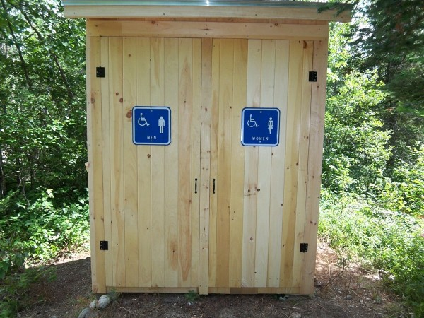 Welome to the MacLeod's full-service family outhouse at Rocky Pond. Here you can place your to-go order and leave your previous ones behind as you gaze at the sky.