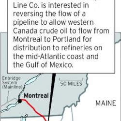 The folly of tar sands oil in existing pipelines in Maine