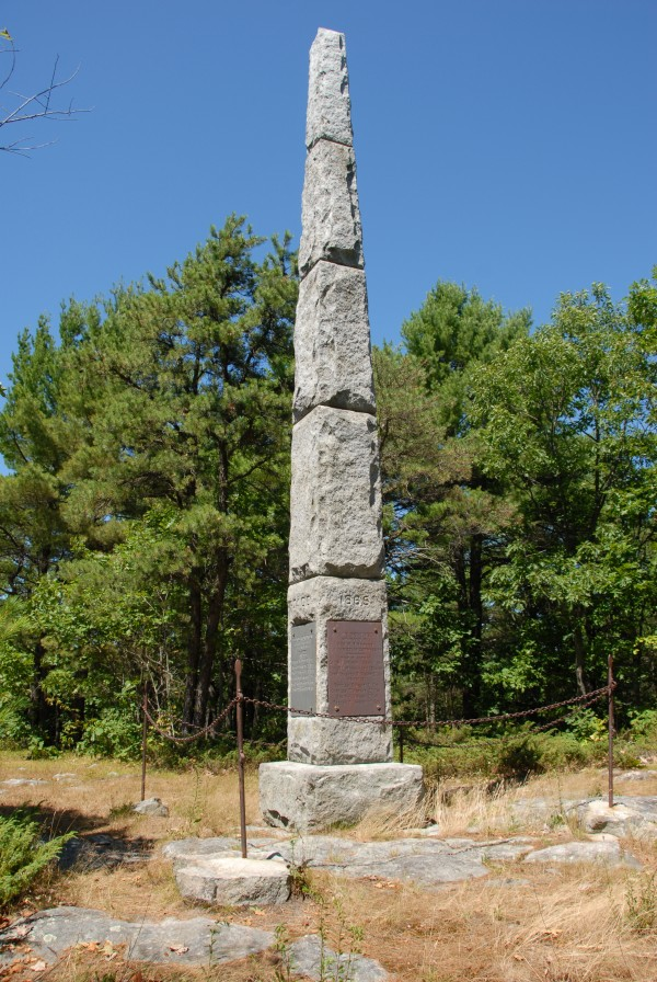 After the Civil War, Oliver Otis Howard and his brothers Charles and Roland led the effort to build a memorial atop Otis Hill in Leeds. Named the Leeds Peace Monument, the simple granite obelisk still stands atop what is now called Monument Hill.