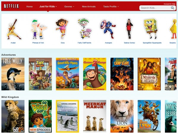 In this screen shot provided by Netflix Inc., the home page for &quotJust For Kids,&quot is displayed. Netflix Inc. is giving kids and their parents a new reason to embrace its Internet video subscription service as it raises prices to the dismay of many customers.