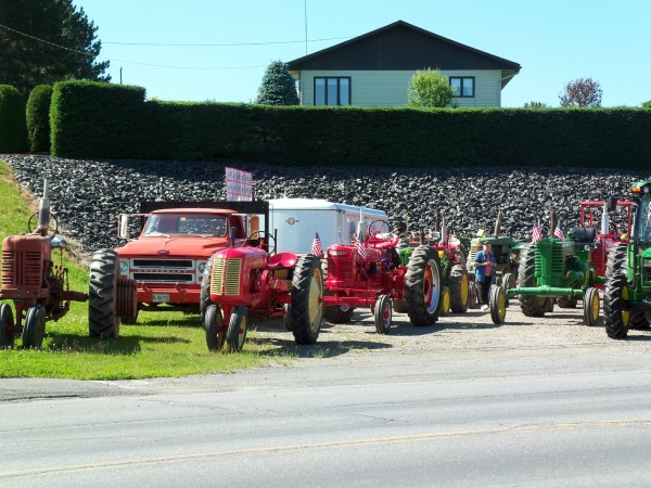 These antique tractors were part of the Northern Maine Antique Tractor Club memorial Tractor Trek on July 10 in Aroostook County. The trek raised $2,400 for Hospice of Aroostook, based in Houlton.