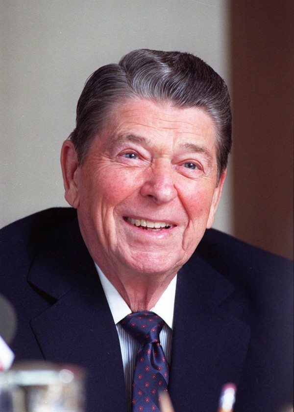 Former President Ronald Reagan is shown in this Feb. 5, 1990 file photo.  It was twenty years ago today,  March 30, 2001 that gunfire outside a Washington hotel sent the lives of those at the scene ricocheting  in different directions, like the bullet that bounced off the car and hit then President Reagan.