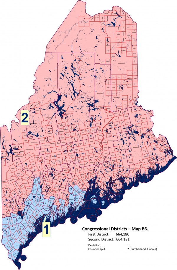 Maine Republican's new redistricting plan.