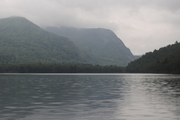 The day was gloomy at South Branch Pond in Baxter State Park last Saturday for the beginning of the students' trip through the park.