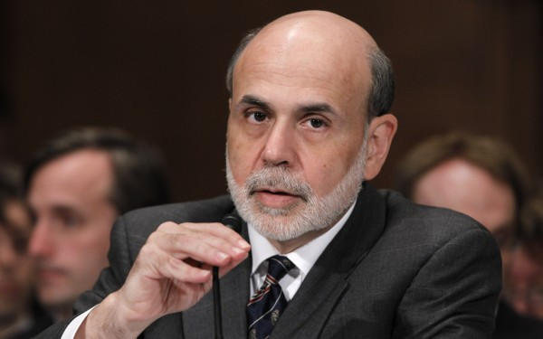 Federal Reserve Board Chairman Ben Bernanke in July.