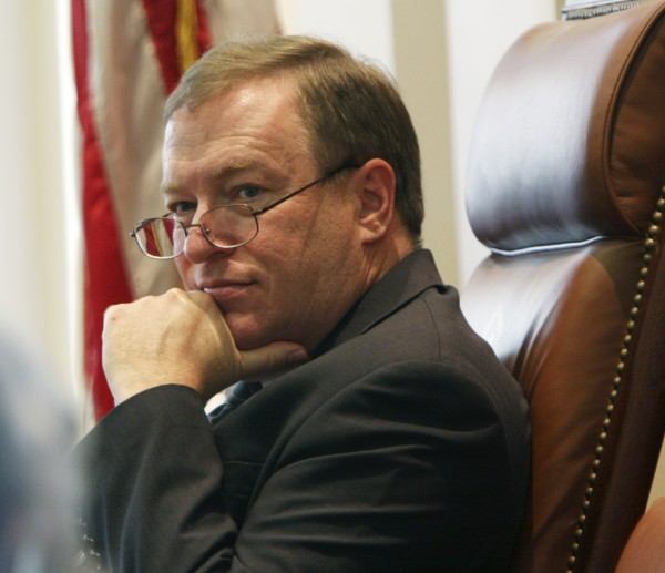 Senate President Kevin Raye, R-Perry, listens to debate on the budget in the Senate at the State House in Augusta, Maine, on Thursday, June 16, 2011.
