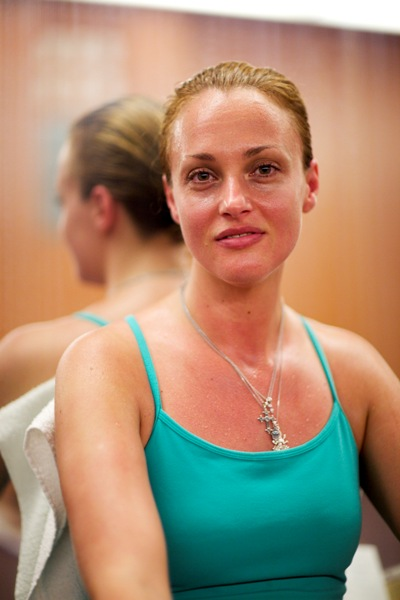 """If I lost money, I go straight to class, because I know I have emotional baggage that I need to get out,"" said crude oil derivatives trader Corina Cotenescu of her passion for rigorous Bikram yoga."