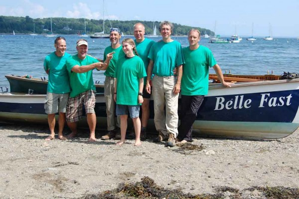 The Belle Fast crew (from left) Roy Rogers, Rafe Blood, Wes Reddick, Rowan Walauski, Jonathan Fulford, Jim Bahoosh and John Dillenbeck clocked a win in a recent rowing regatta.