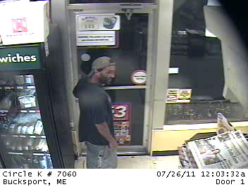 The Bucksport Pplice Department is looking for assistance identifying this male in connection with an ongoing investigation. If you have any information or can identify this man, please contact the Bucksport Police Department. You may remain annonymous.