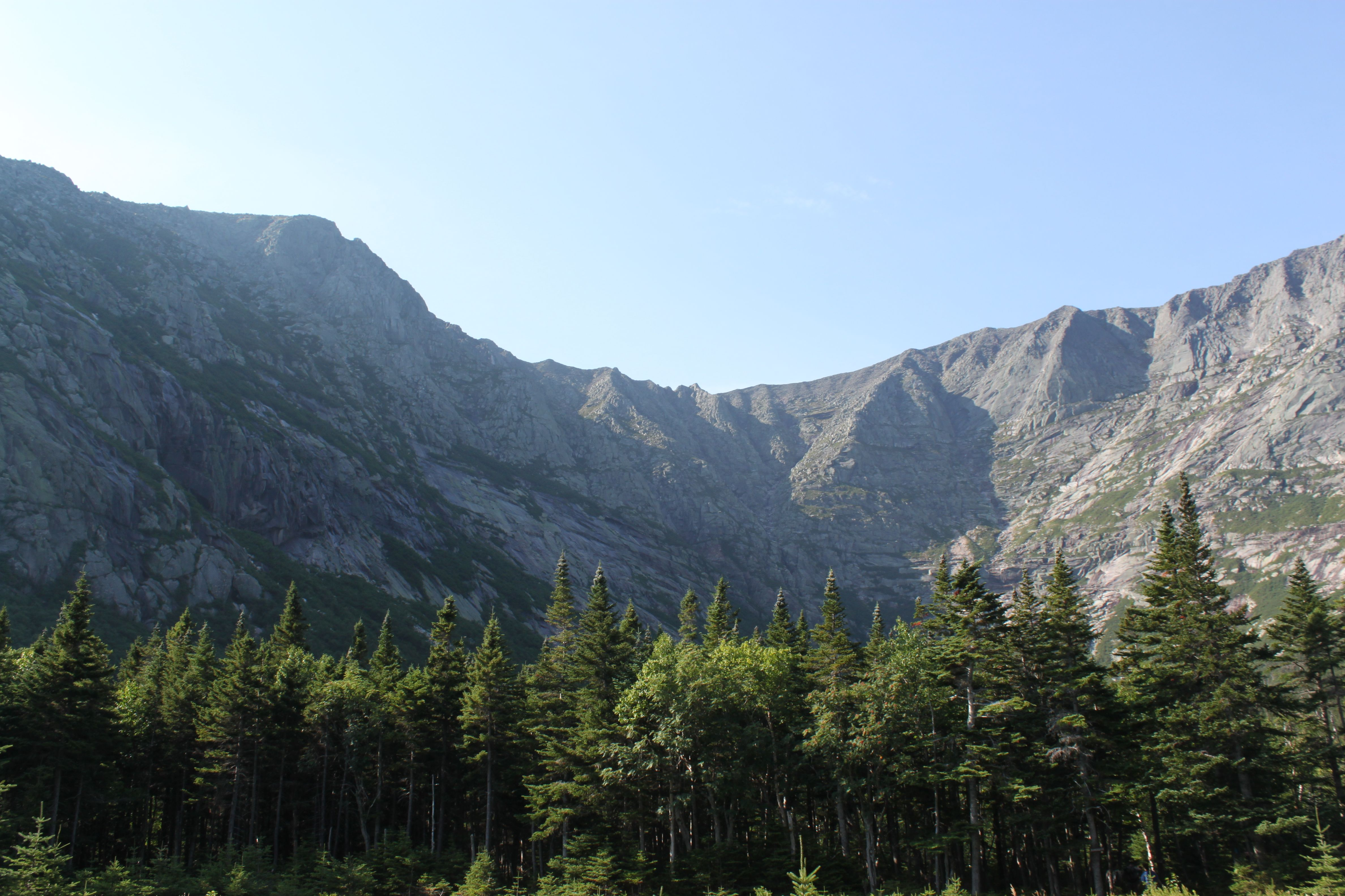 Mount Katahdin as seen from Chimney Pond Trail on Sunday, Aug. 14, 2011. Chimney Pond Trailhead is at Roaring Brook Campground in Baxter State Park.