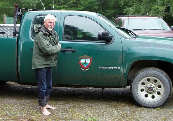 Frank Wallace, 72, of Cape Neddick, after being found by the Maine Warden Service after being lost for two days near Chesuncook Lake in Piscataquis County.