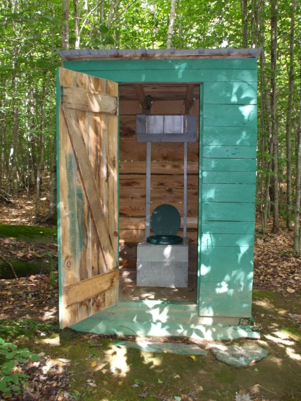 This outhouse was built by my StepDad and Mom and sits in the woods of Kingsbury Maine. It is a famous outhouse, having been in the Bangor Daily News, Channel 7 and Channel 5 TV and the BDN story was picked up by the associated press so it went throughout the United States. This outhouse won me a trip to New York City to be Maine's Representative in the Charmin Go Nation &quotEnjoy the Go&quot Contest. My parents built this outhouse to be used year round and it has come in handy during many snowmobile, snowshoeing, hunting and summer time fun trips. Thanks to Joe & Mona for building it!