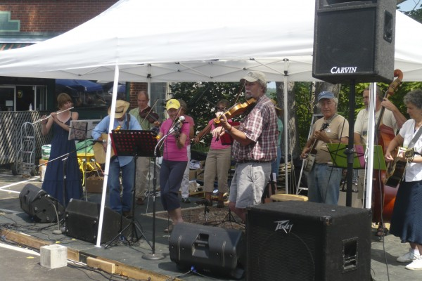 The Belfast Bay Fiddlers perform during the Belfast Co-op's annual Customer Appreciation Day held last weekend. The co-op has been providing healthy food and sustainable products to the community for 35 years.