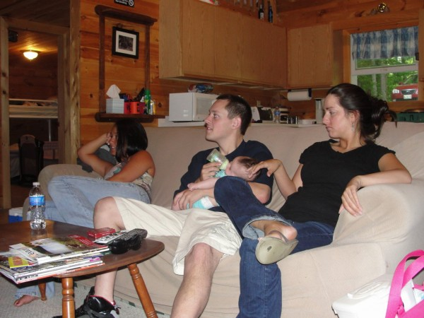 Matthew Cynewski (center) with Jessi Knowlton to his right in an undated Facebook photo.