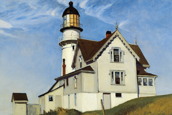 "This image courtesy of Bowdoin College Museum of Art shows Edward Hopper's ""Captain Upton's House,"" 1927, oil on canvas, private collection."
