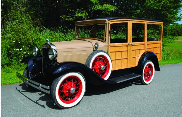 This 1930 Ford A Woodie Wagon is among the vehicles up for sale at the 34th annual New England Auto Auction Aug. 20 at the Owls Head Transportation Museum.