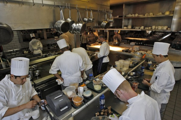 """""""We get asked all the time,"""" says Karen Hatfield of recommending culinary schools, who, along with her husband, Quinn, owns Hatfield's in Los Angeles, California. """"Quinn and I don't recommend it to anybody ever. It's such a huge financial burden now."""" (She went to cooking school; he didn't.)"""