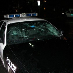 Old Town transient crashes into police cruiser