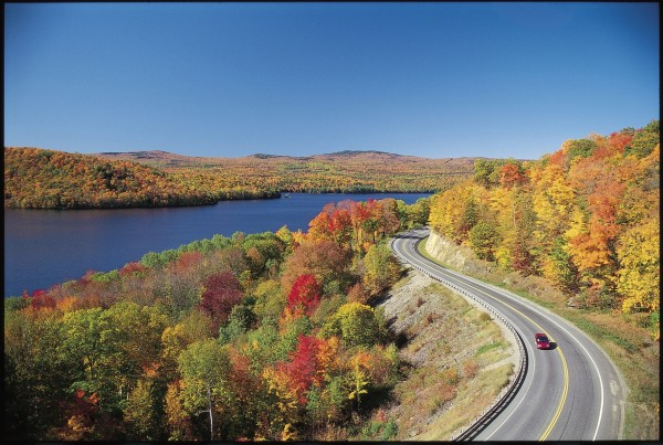 The Old Canada Road Scenic Byway passes Wyman Lake near the town of Bingham. The byway follows Route 201 for 78 miles from the town of Solon to the Canadian border.