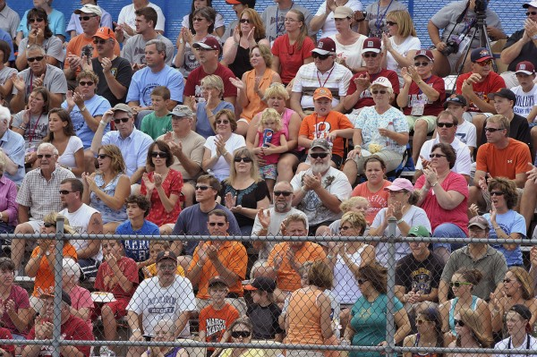The stands were full for the opening game of the 2011 Senior League World Series held Sunday between Maine District 3 champion Brewer and the Canadian champions from the Notre Dame de Grace Little League of Montreal, Quebec.