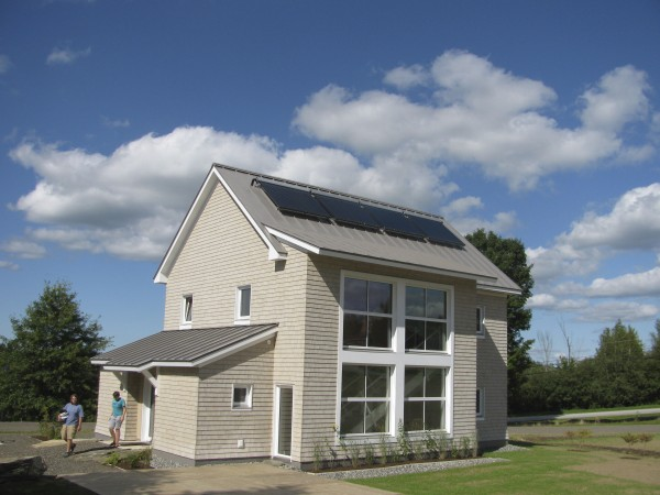 Unity College's brand-new 10-person residence hall, TerraHaus, is the first Passive House-certified student dormitory in the country. Solar panels on the roof, 10-inch thick insulation and special windows will help keep its energy costs down to $300 per year.