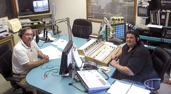 Dale Duff (let) and Clem LaBree host an afternoon sports talk on WZON (620 AM) of Bangor. Duff is doing a sports talk blog for the BDN.