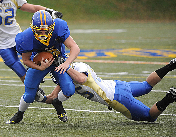 Matthew Rende of Maine Maritime Academy (left) will be a key cog in the offense as the Mariners seek a fourth straight New England Football Conference title. The senior quarterback from Augusta will direct the triple option.