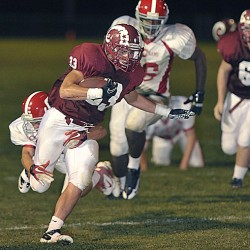 Lawrence edges rival Bangor in final preseason football tuneup