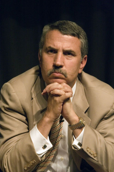 Thomas Friedman, American journalist, columnist, author and three-time winner of the Pulitzer Prize, is seen in May 2005.