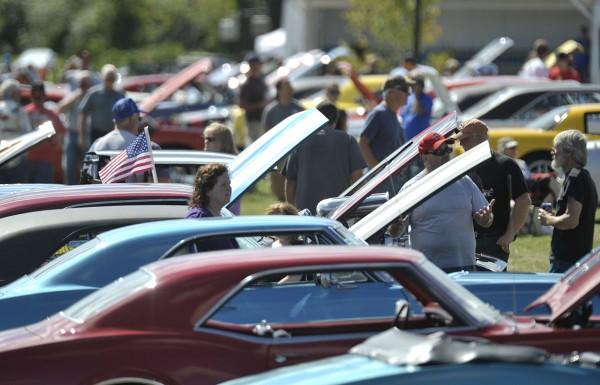 Hundreds turned out for the 4th annual Bangor Car Show at the Bangor Waterfront Saturday, Sept. 10, 2011.
