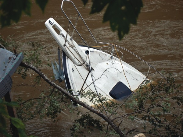 Flooding from recent storms means boaters need to be on the lookout for submerged objects, BoatUS cautions.