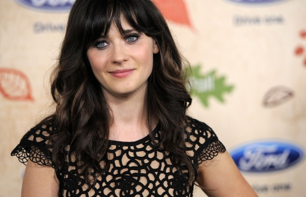 n this Monday, Sept. 12, 2011 file photo, Zooey Deschanel, a cast member in the television series &quotNew Girl,&quot poses at the 7th Annual FOX Fall Eco-Casino Party in Culver City, Calif. The event raised money and awareness for environmental causes while celebrating the launch of the FOX fall television season.