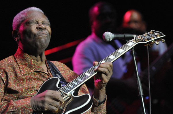 "With the help of his hollow body Gibson electric guitar ""Lucille,""  renowned blues guitarist and Rock and Roll Hall of Famer B.B. King electrified his fans on Bangor's waterfront Saturday night, Sept. 3, 2011."