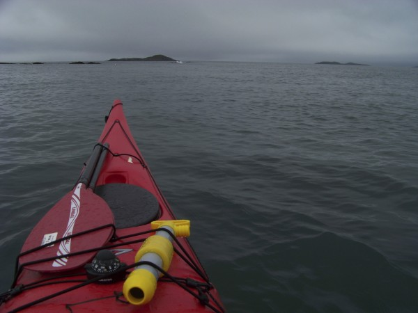Paddling through strong Down East currents out to Ram Island, a tall, isolated isle that rises out of the cold Atlantic south of Machias.