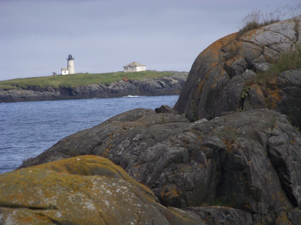 Libby Island light as seen from Ram Island.