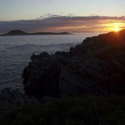 Sunset viewed from Ram Island south of Machias.