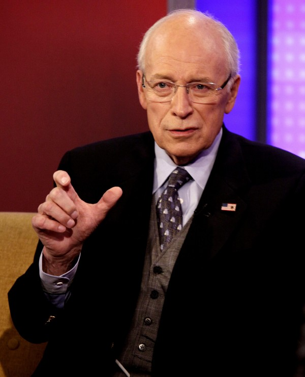 In this Aug. 31, 2011 photo, Former Vice President Dick Cheney is interviewed on the &quotFox & Friends&quot television program, about his book &quotin My Time,&quot in New York.  Cheney's autobiography presents a robust defense of his push for the U.S. invasion of Iraq without critically examining two issues central to America's near-failure in the war: the Bush administration's decision to disband the country's army and banish all members of Saddam Hussein's Baath Party.
