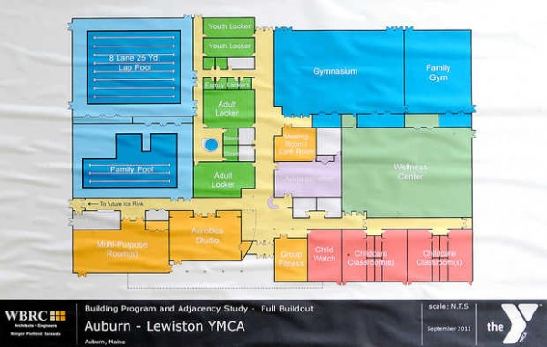 Building program and adjacency study for the new Auburn-Lewiston YMCA.