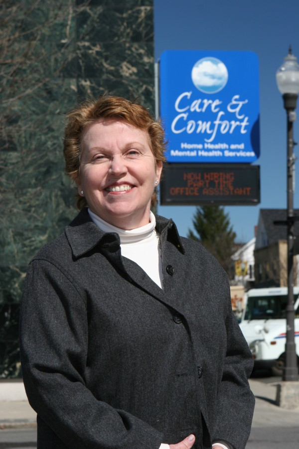 Susan Giguere, founder of Care & Comfort in Waterville.