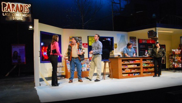 Meghan Malloy (from left) Arthur Morrison and Dave Droxler during a dress rehearsal of &quotLast Gas.&quot